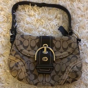 COACH signature hand bag